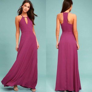 Lulu's Beauty and Grace Magenta Maxi Dress Gown
